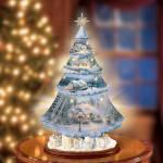 Thomas Kinkade Holiday Celebration Porcelain Tree