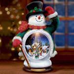 Holiday Welcome Snowman By Thomas Kinkade Illuminates