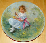 Collector Plate Little Miss Muffet Mother Goose Series 1981