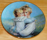 Collector Plate Precious Embrace 1st Issue Bonds Of Love - Mothers Day