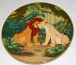 Disney Collector Plate Lion King Courting The Future King 1995 6th Iss