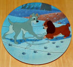 Disney Collector Plate Lady And The Tramp Puppy Love