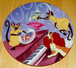 Disney Collector Plate Double Siamese Trouble Lady And The Tramp