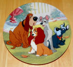 Disney Collector Plate Telling Tails Lady And The Tramp Series