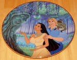 Disney Collector Plate Pocahontas Listen To Your Heart