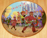 Disney Collector Plate Hunchback Of Notre Dame Topsy Turvy Parade