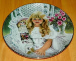 Collector Plate Knowles, Titled Anna 1st Issue Heirlooms And Lace Seri