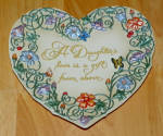 Collector Plate 2000 A Daughter's Love Is A Gift From Above