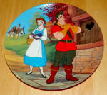 Disney Collector Plate Beauty And The Beast Mismatch
