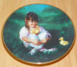 Collector Miniature Plate Donald Zolan Lap Of Lover