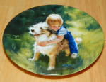 Collector Miniature Plate Donald Zolan Backyard Buddies