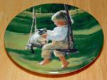 Collector Miniature Plate Donald Zolan The Garden Swing