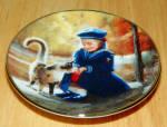 Collector Miniature Plate Donald Zolan Secret Friends 4th Issue