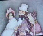 A Very Gallant Gentlemen Victorian Print