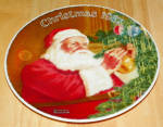 Collector Plate Rockwell Annual Santa Collection Series Santa's Golden