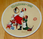 1992 Plate Rockwell Christmas Surprise Series Annual Holiday Plate