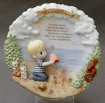 Collector Plate Serenity Prayer Precious Moments Walking In Faith