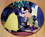 Disney Collector Plate Knowles Snow White A Kiss For Dopey