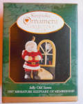 Jolly Old Santa 1997 Miniature Christmas Hallmark