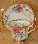 Elizabethan China Cup & Saucer #2905s Floral Gold Trim