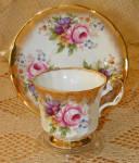 Elizabethan China Cup & Saucer #2900s Floral Gold Trim
