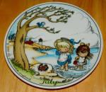 W Germany 2 Monthly Collector Plate Dekor-shop Walter Good Idea Jul