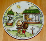West Germany 2 Monthly Collector Plate Dekor-shop Walter Aug 1966