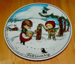 West Germany 2 Monthly Collector Plate Dekor-shop Walter Feb1966