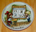 West Germany 2 Monthly Collector Plate Dekor-shop Walter Nov 1966
