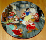 Disney Collector Plate Knowles Dance Of Snow White And Seven Dwarfs