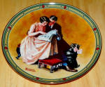 Collector Plate A Couple's Commitment Norman Rockwell American Dream