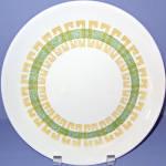 Homer Laughlin Green Gold Design Dinner Plate