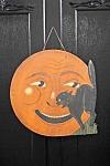 Halloween Moon Black Cat Night Suprise Sign