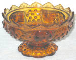 Fenton Hobnail Amber Candle Bowl