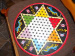 Tin Checker And Parchesi Game