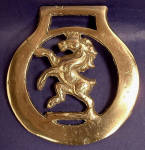 Vintage Horse Brass Rearing Horse England Pub Brass 1930s