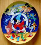 Disney Collector Plate Fantasia 10 In Schmid 50 Anniversary Le1990