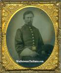 Tintype, Union Officer Wearing Gauntlets & Holding Slouch Hat