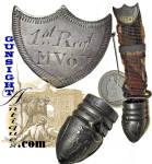 1st Mass. Vol. Infantry 'fallen Comrade' Civil War Veteran Medal