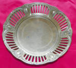 Art Deco Round Gilde Brass Bowl 9 1/4 Inches Natural Patina