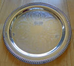 Leonard Silver Plate 15 Inch Serving Tray Gadroon Edge Holloware
