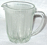 Small Clear Glass Ribbed Creamer