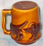 Brown Ceramic Dachshund Shaker