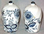 Blue Onion Salt Pepper Shakers
