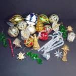 1970s Lot 32 Plastic Christmas Ornaments