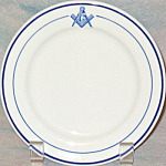 Masonic Symbol Bread Plate