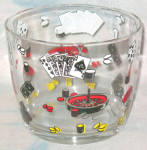 Gambling Design Glass Ice Bucket