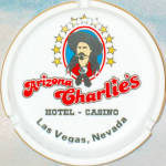 Arizona Charlie's Hotel Casino Souvenir Ashtray