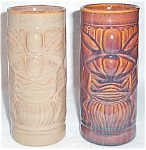 Ceramic Tiki Tumbler Tan Or Brown