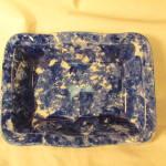 Blue + White Sponge Decorated Serving Dish